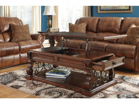 Ashley Alymere Dark Brown Coffee Table Available Online in Dallas Fort Worth Texas