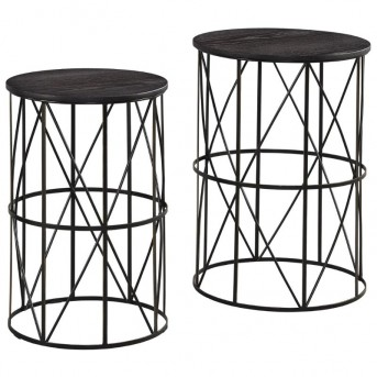 Ashley Marxim Dark Bronze Nesting End Table Available Online in Dallas Fort Worth Texas