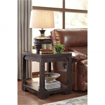 Ashley Rogness Rustic Brown End Table Available Online in Dallas Fort Worth Texas