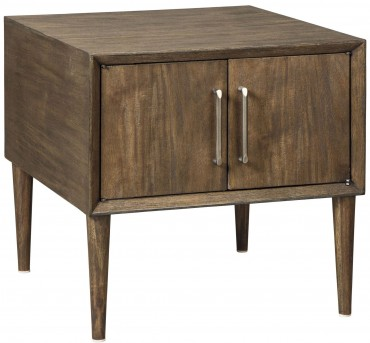 Ashley Kisper Brown Square End Table Available Online in Dallas Fort Worth Texas