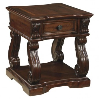 Ashley Alymere Dark Brown End Table Available Online in Dallas Fort Worth Texas