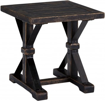 Ashley Beckendorf Black Square End Table Available Online in Dallas Fort Worth Texas