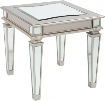 Ashley Tessani Silver Rectangular End Table Available Online in Dallas Fort Worth Texas