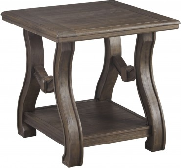 Ashley Tanobay Gray Square End Table Available Online in Dallas Fort Worth Texas