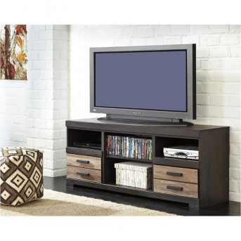 Ashley Harlinton Two-tone Large TV Stand With Fireplace Available Online in Dallas Fort Worth Texas