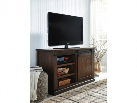Ashley Budmore Rustic Brown Medium TV Stand Available Online in Dallas Fort Worth Texas