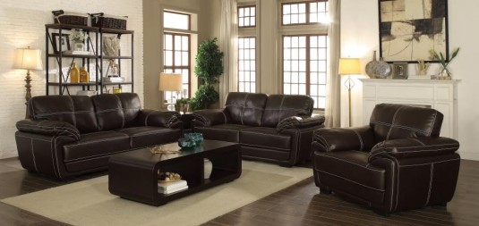 Coaster Zenon Brown Loveseat Available Online in Dallas Fort Worth Texas