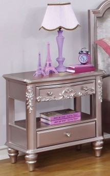 Coaster Caroline Metallic Lilac Nightstand Available Online in Dallas Fort Worth Texas