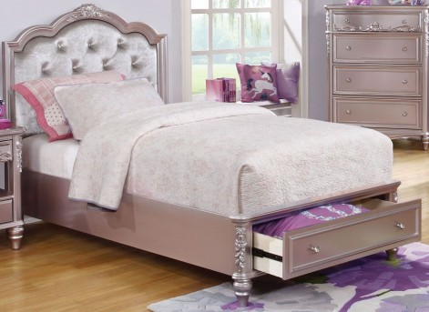 Coaster Caroline Metallic Lilac Full Storage Platform Bed Available Online in Dallas Fort Worth Texas