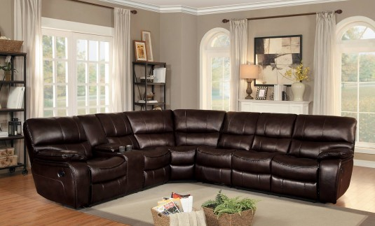 Homelegance Pecos Dark Brown Right Arm Facing Reclining Loveseat Available Online in Dallas Fort Worth Texas