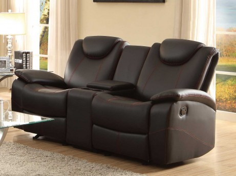 Homelegance Talbot Black Double Glider Reclining Loveseat Available Online in Dallas Fort Worth Texas