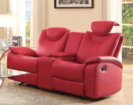 Homelegance Talbot Red Double Glider Reclining Loveseat Available Online in Dallas Fort Worth Texas