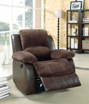 Homelegance Cranley Chocolate 2-Tone Power Reclining Chair Available Online in Dallas Fort Worth Texas