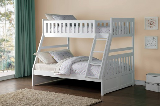 Homelegance Galen White Twin/Full Bunk Bed Available Online in Dallas Fort Worth Texas