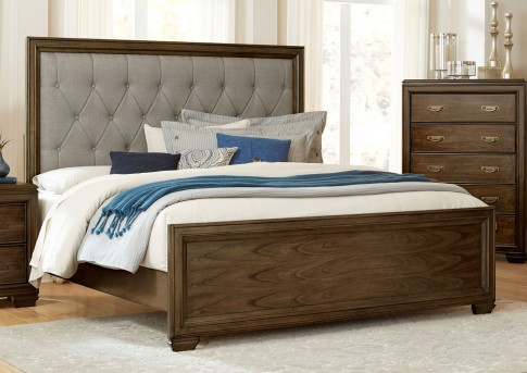 Homelegance Leavitt King Button Tufted Upholstered Bed Available Online in Dallas Fort Worth Texas