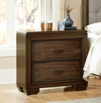 Homelegance Leavitt Brown Cherry Night Stand Available Online in Dallas Fort Worth Texas