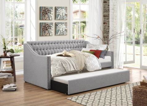 Tulney Grey Daybed with Trundle Available Online in Dallas Fort Worth Texas