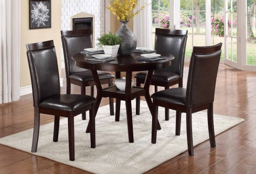 Shankmen 5pc Espresso Dining Table Set Available Online in Dallas Fort Worth Texas