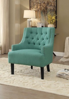 Homelegance Charisma Teal Accent Chair Available Online in Dallas Fort Worth Texas