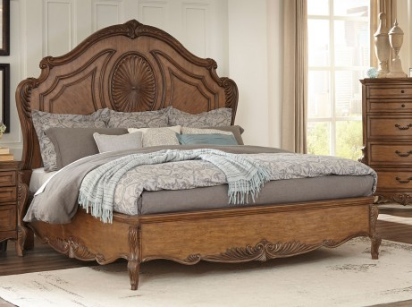 Homelegance Moorewood Park Pecan King Bed Available Online in Dallas Fort Worth Texas
