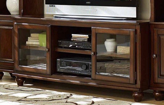 Homelegance Lenore Rich Cherry TV Stand Available Online in Dallas Fort Worth Texas