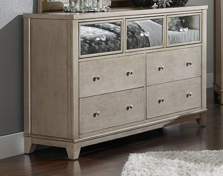 Homelegance Odelia Silver Dresser Available Online in Dallas Fort Worth Texas
