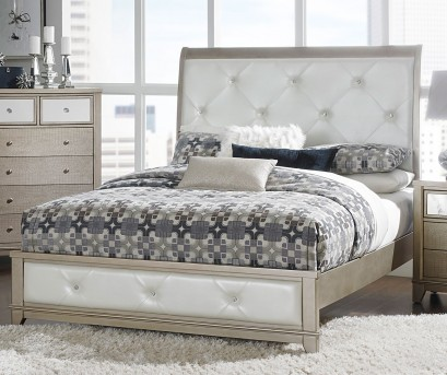 Homelegance Odelia Silver Full Bed Available Online in Dallas Fort Worth Texas
