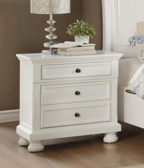 Laurelin White Night Stand Available Online in Dallas Fort Worth Texas