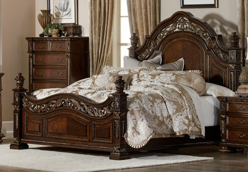 Homelegance Catalonia Cherry King Bed Available Online in Dallas Fort Worth Texas