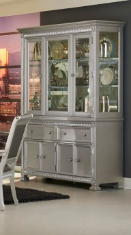 Homelegance Bevelle Silver Buffet & Hutch Available Online in Dallas Fort Worth Texas
