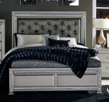 Homelegance Bevelle Silver King Bed Available Online in Dallas Fort Worth Texas