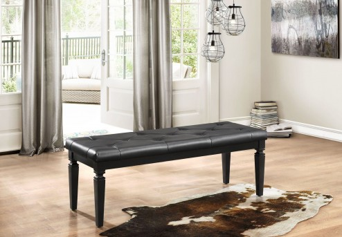 Homelegance Allura Black Bench Available Online in Dallas Fort Worth Texas