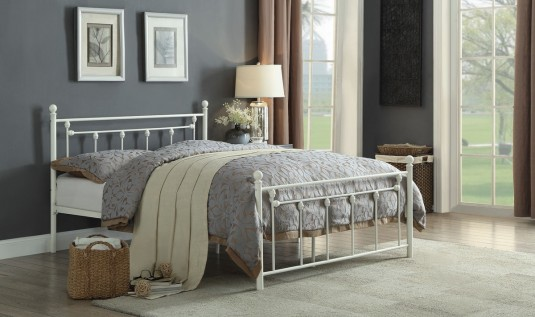 Homelegance Lia White Full Metal Platform Bed Available Online in Dallas Fort Worth Texas