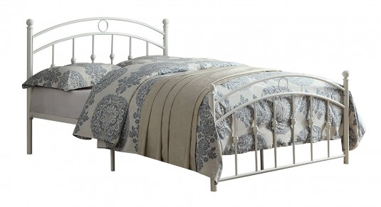 Tiana White Full Metal Platform Bed Available Online in Dallas Fort Worth Texas