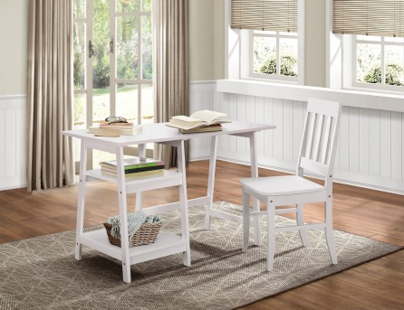 Homelegance Daily White Writing Desk and Chair Available Online in Dallas Fort Worth Texas
