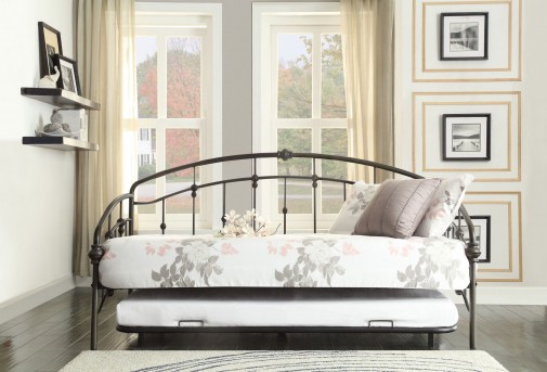 Homelegance Ruby Black Metal Daybed with Trundle Available Online in Dallas Fort Worth Texas