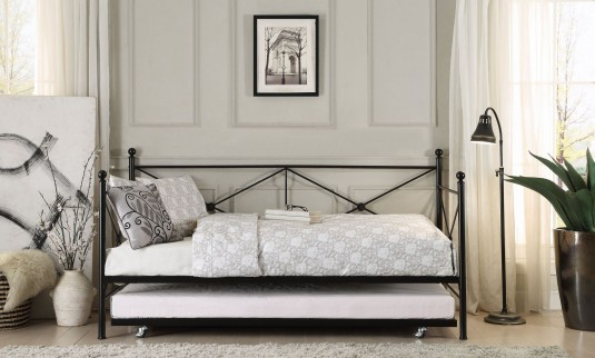 Homelegance Jones Black Metal Daybed with Trundle Available Online in Dallas Fort Worth Texas