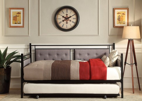 Homelegance Octavia Black Metal Daybed With Trundle Available Online in Dallas Fort Worth Texas