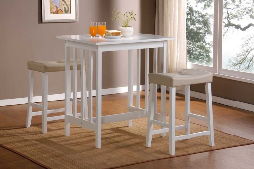 Homelegance Scottsdale 3pc White Counter Height Set Available Online in Dallas Fort Worth Texas