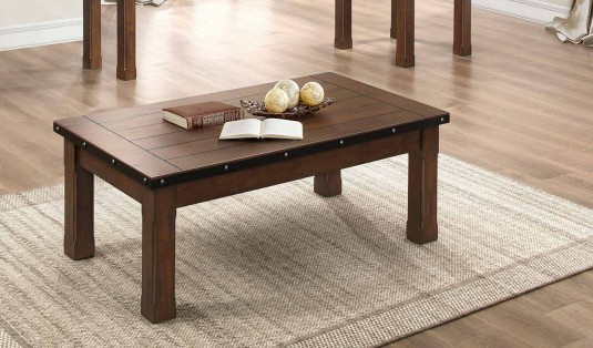 Homelegance Schleiger Brown Coffee Table Available Online in Dallas Fort Worth Texas