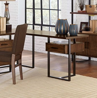 Homelegance Sedley Walnut Return Desk with One Cabinet Available Online in Dallas Fort Worth Texas