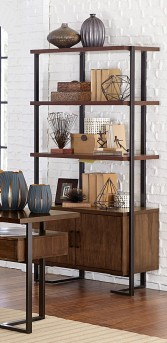 Homelegance Sedley Walnut Bookcase Available Online in Dallas Fort Worth Texas