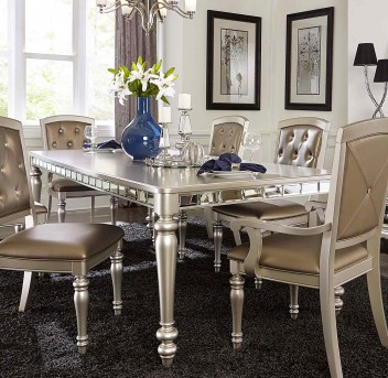 Homelegance Orsina Silver Dining Table Available Online In Dallas Fort  Worth Texas
