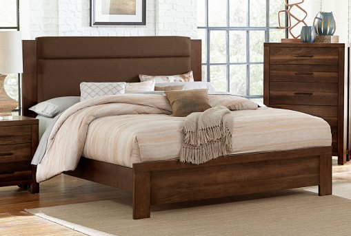 Homelegance Sedley Walnut Upholstered King Bed Available Online in Dallas Fort Worth Texas