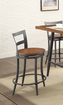 Homelegance Selbyville Cherry/Gunmetal Counter Height Chair Available Online in Dallas Fort Worth Texas