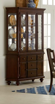 Homelegance Glendive Brown Cherry Buffet & Hutch Available Online in Dallas Fort Worth Texas