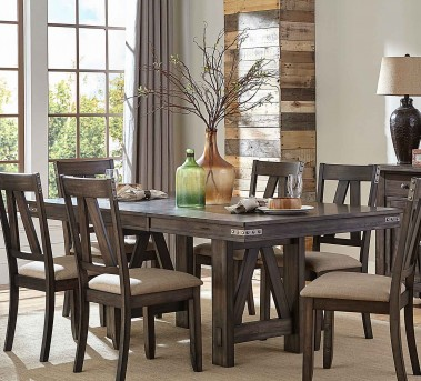 Homelegance Mattawa Brown Rectangular Dining Table with Butterfly Leaf Available Online in Dallas Fort Worth Texas