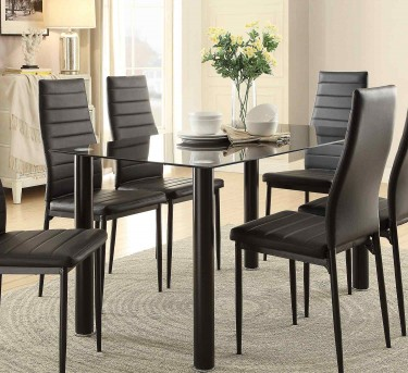 Florian Black Dining Table Available Online in Dallas Fort Worth Texas