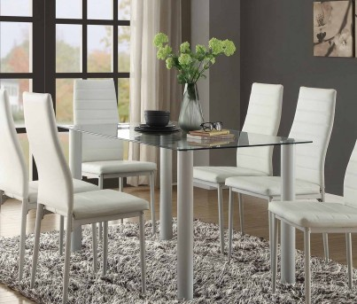 Homelegance Florian White Dining Table Dallas Tx Dining Room Dining Tables Furniture Nation