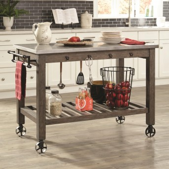 Coaster Davenport Aged Patina Kitchen Island Available Online in Dallas Fort Worth Texas